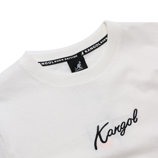 KANGOL 短袖 短T 白 草寫英文 袋鼠 棉 男 (布魯克林) 6021100900
