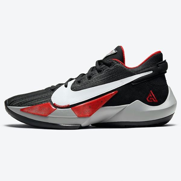 Nike ZOOM FREAK 2 EP 男鞋 籃球 字母哥二代 緩震 穩定 氣墊 靈敏 黑 紅【運動世界】CK5825-003