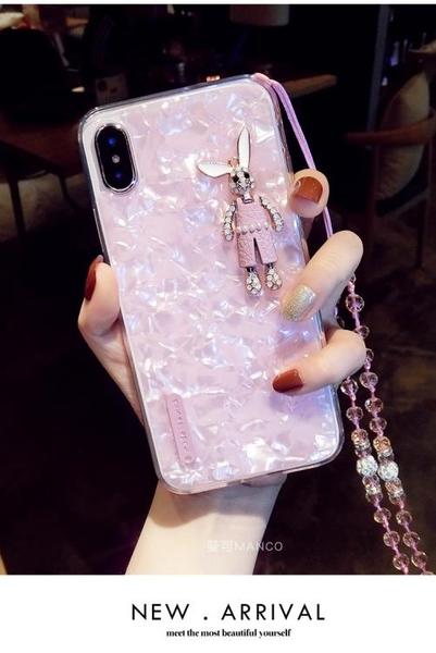 店長推薦 掛繩兔子蘋果xs手機殼xr硅膠7plus潮牌iphone8新款6s卡通max女