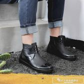 雨鞋男防水鞋套夏季低筒短筒雨靴時尚防滑加厚耐磨成人廚房工作鞋『韓女王』