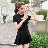 旗袍改良版連身裙年輕款時尚新式性感夜店心機小黑裙短裙赫本短款