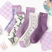 紫色系列少女加厚大人中筒襪 大人襪 襪子 中筒襪
