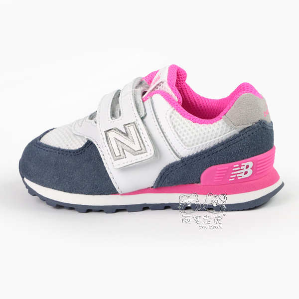 New Balance 574 桃 x 灰 魔鬼氈 運動鞋 小童鞋 NO.R4060