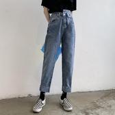 特惠限購 網紅直筒高腰牛仔褲女新款顯瘦顯高chic闊腿長褲寬松老爹褲子