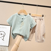 兒童夏季套裝男童裝短袖男孩2一周歲半男寶寶夏裝3小童棉麻衣服潮 幸福第一站
