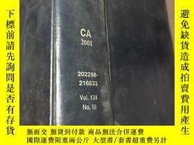 二手書博民逛書店化學摘要(CHEMICAL罕見ABSTRACTS)CA2001