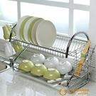 廚房落地多層儲物瀝水碗碟架雙層放碗餐具收納碗架用品【小獅子】
