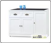 {{ 海中天休閒傢俱廣場 }} F-35 摩登時尚 餐廳系列 703-5 綺雅娜白色4尺碗碟櫃(下座)