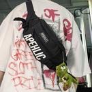 潮牌胸包運動男包日系小背包女士反光斜挎包嘻哈單肩男學生腰包潮