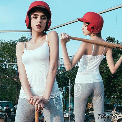 運動型內衣 舒活好感細肩帶無鋼圈BRA背心M~L(白) SEXYBABY 性感寶貝NA15180006-2