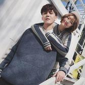情侶裝套裝韓版學生寬鬆百搭套頭款V領慵懶風毛衣女