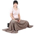 【源之氣】極超細纖維居家/靜坐毛毯 75*150cm/咖啡 RM-10392