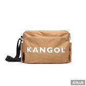 KANGOL 側背包 卡其色-6125170630