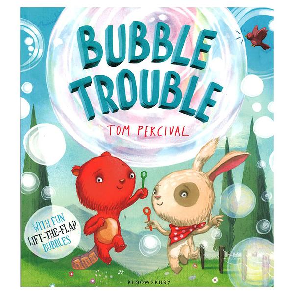 【麥克書店】Bubble Trouble友誼主題平裝翻翻英文圖畫童書
