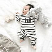 哈衣男女寶寶連體衣全棉套頭嬰兒爬行服長袖秋冬新生兒衣服xx8417【Pink中大尺碼】