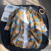 ins超火碎花襯衫復古港風chic短袖寬鬆沙灘度假夏威夷花襯衫男潮 衣間迷你屋
