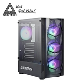 【MONTECH 君主】X1 玻璃側板RGB機殼(黑)