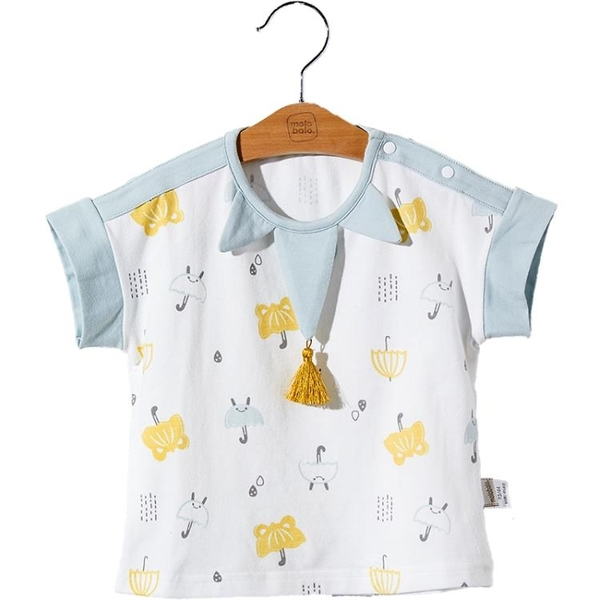 兒童T恤夏季卡通嬰兒夏裝小孩卡通衣服男女寶寶短袖上衣 茱莉亞