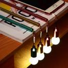 【03318】 發光燈泡中性筆 手機防塵塞 黑色 0.38mm 文具 辦公室 開學