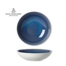 英國Royal Crown Derby-Art Glaze藝術彩釉系列-25.5CM義式湯盤-滄藍