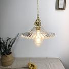 設計師美術精品館-北歐簡約餐廳吊燈老上海復古懷舊床頭玄關吧台民宿黃銅玻璃單頭燈