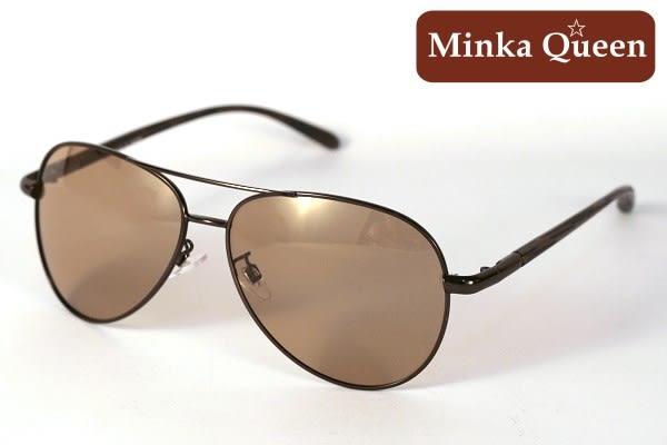 Minka Queen 太陽的後裔 復古咖啡框激似款(抗UV400鏡片)時尚個性雷朋偏光微變色太陽眼鏡