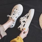 小眾帆布鞋女2021年新款2021春季百搭學生小白鞋板鞋ins街拍潮鞋 伊蘿 99免運