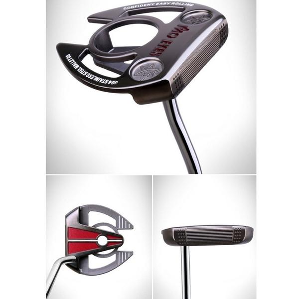 POSMA PGM 高爾夫球桿 比賽球桿 鐮刀型推桿 黑色 TUG022-BLK