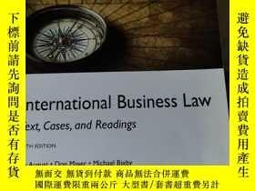 二手書博民逛書店International罕見Business Law Text Cases and Readings (國際商法