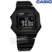 CASIO / B650WB-1B / 卡西歐 復古文青 計時 防水 鬧鈴 不鏽鋼手錶 鍍黑色 38mm