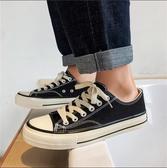 休閒布鞋 帆布鞋男鞋子男低幫布鞋休閒板鞋潮鞋情侶小白鞋