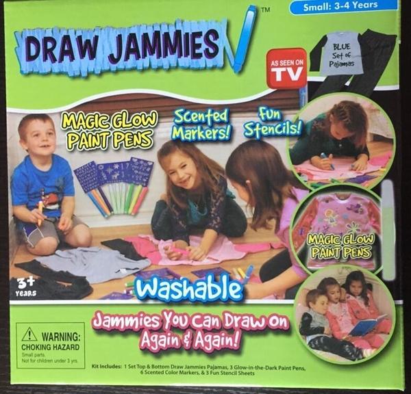 Draw Jammies 兒童繪畫衣 兒童可洗衣服筆129元【省錢博士】