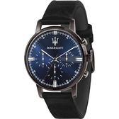★MASERATI WATCH★-瑪莎拉蒂手錶-ELEGANZA系列-皮錶帶-R8871630002-錶現精品公司-原廠正貨-鏡面保固一年