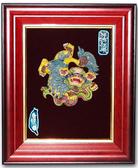 鹿港窯-交趾陶居家開運裝飾壁飾~S祥獅戲球