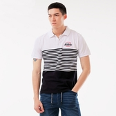 BigTrain條紋配色POLO衫-男-白色