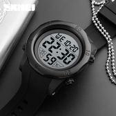 兒童錶大數字簡約電子錶男士夜光防水鬧鍾多功能戶外運動跑步手錶