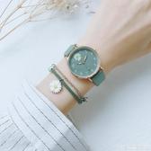 手錶 小雛菊少女手表綠色森系ins學院風韓版簡約氣質文藝復古港風學生 宜品