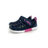 中童 日本 IFME 透氣 魔鬼氈 排水孔 花卉 輕量 機能 水涼鞋《7+1童鞋》C407 藍色