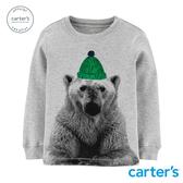 【美國 carter s】綠毛帽北極熊長袖上衣-台灣總代理