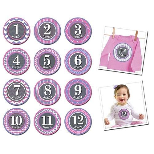 美國Sticky Bellies 寶寶月份貼紙1-12M(小小公主)[衛立兒生活館]