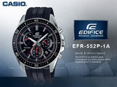 CASIO 卡西歐   EDIFICE EFR-552P-1A 三眼賽車男錶  防水100米 EFR-552P