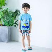 兒童泳衣男童寶寶小中大童青少年分體可愛學生溫泉泳褲套裝游泳衣