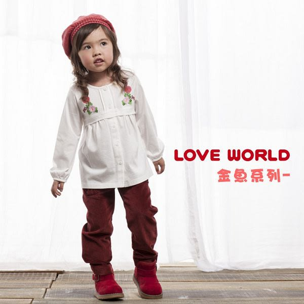【愛的世界】防風鋪棉長褲/6~10歲-台灣製- ★秋冬下著