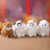 【天天】仿真貓咪毛絨玩具會叫帶聲兒童動物玩偶小貓模型擺件 【1件免運好康八九折】