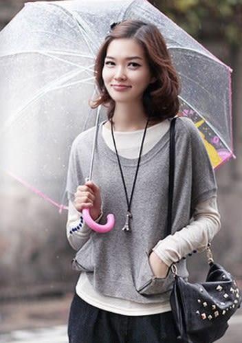 [協貿國際]  韓版復古寶石項鍊毛衣鏈 (3個價)