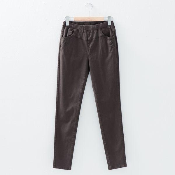 【衣大樂事】MIT口袋下車格牛仔長褲