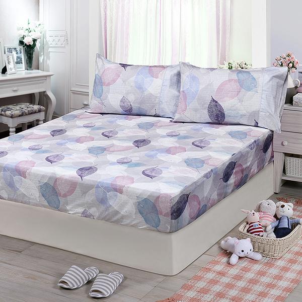 【FITNESS】精梳棉單人床包枕套二件組-日光(紫)_TRP多利寶