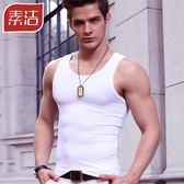 男士背心緊身純棉修身型健身運動跨欄打底彈力青年透氣汗背心夏季