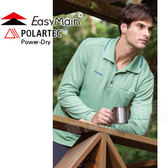 EasyMain 衣力美 S1477-40綠色 男速乾排汗長袖POLO衫