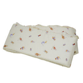 【佳兒園婦幼館】FoxwoodTales狐狸村傳奇 高級精梳棉床護圈 (一般中床適用)-米色
